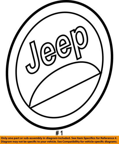 Jeep Chrysler Oem 06 17 Wrangler Fender Medallion 55157317ab