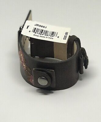 New Authentic Fossil JR9883 Men's Watch Band Strap Genuine Leather 16mm Lug F2