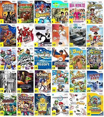 BUNDLE of RARE / COLLECTABLE Nintendo Wii -Wii U GAMES