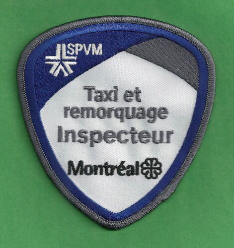 MONTREAL QUEBEC CANADA POLICE TAXI ET REMORQUAGE INSPECTEUR SHOULDER PATCH