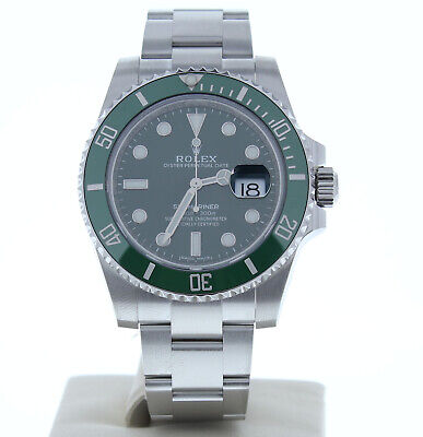 Rolex Model 116610 LV Anniversary Submariner (HULK) Watch Green Dial & Bezel