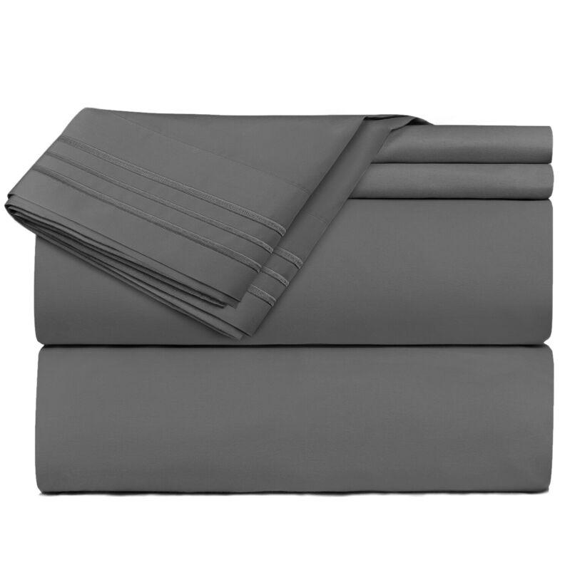 Egyptian Comfort Queen Or King Soft Microfiber Bed Sheets Deep Pocket Sheet Set
