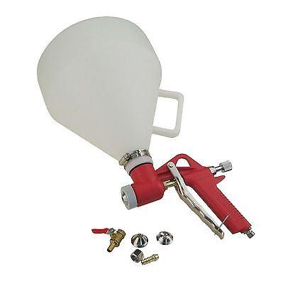 Hopper Feed Exterior Texture Paint Spray Gun Plastic Cup 5L With 3 Nozzel UK VAT