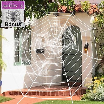 Giant Spider Web Decoration Halloween (Giant Premium Spider Haunting Web Cobweb Halloween Decor House Party)