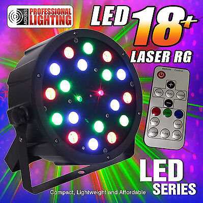 Best DJ Light You'll Ever Buy for $59 - LED 18W RGB Par with Red & Green