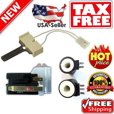 Gas Dryer Sensor Igniter Flame - New Gas Dryer Repair Kit Ignitor Heat Flame Sensor Coils Whirlpool Maytag Part