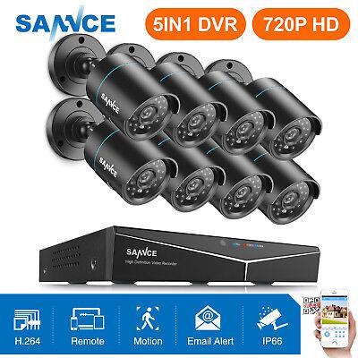 SANNCE 8CH HD 1080N DVR Überwachungskamera 1500TVL Alert APP CCTV Außen Kameras
