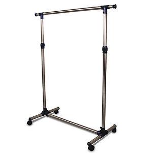 kleiderst nder breite 88 150 cm garderobenst nder mit rollen h he von 97 165 cm ebay. Black Bedroom Furniture Sets. Home Design Ideas