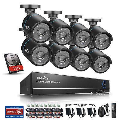 900TVL 8CH 960H DVR CCTV 1TB  Außen Überwachungskamera set Videoüberwachung