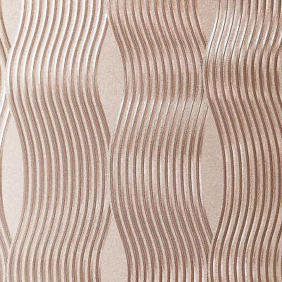 Arthouse Aluminio Onda Vinilo Metálico Pintado Alta Calidad - Oro Rosa 294500