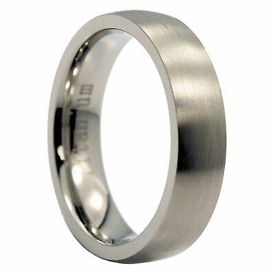 5mm or 7mm Brushed Grade 5 Titanium Comfort Fit Ring Wedding Band 7mm Comfort Fit Wedding Band