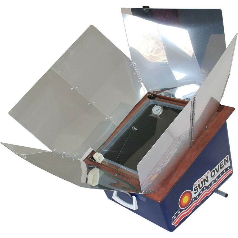 Sun Oven ASO Solar Energy Aluminum Portable All American Sun Oven with Cookbook