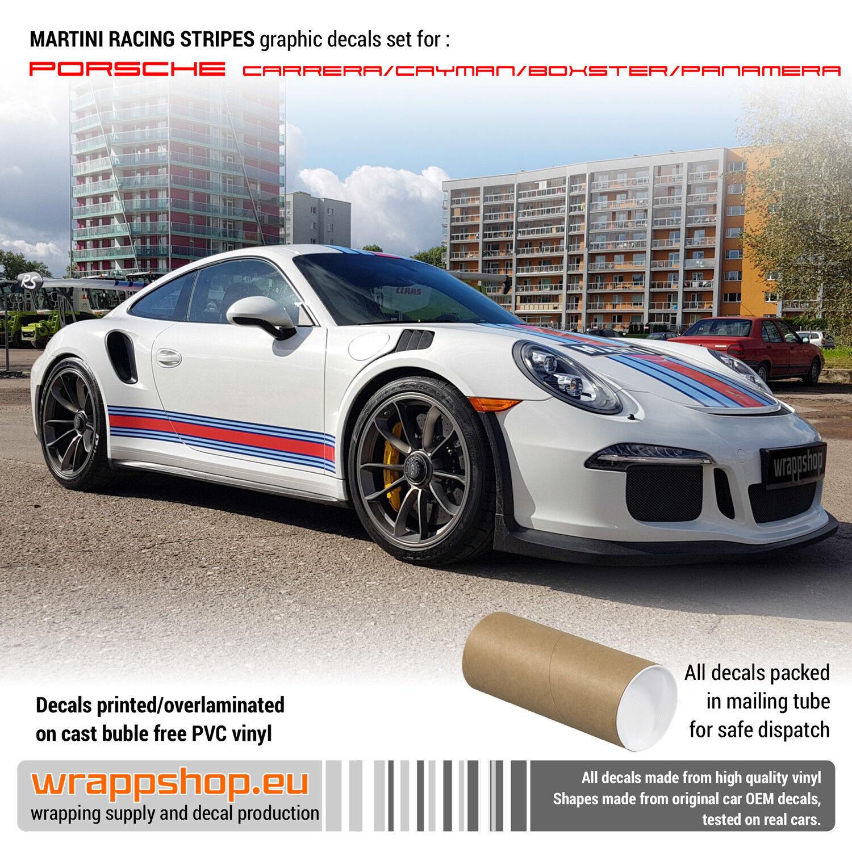 Martini Racing Stripes Full Set For Porsche Carrera Cayman Boxster Ebay