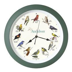 Audubon North American Song Bird Sound Clock 13 in Green by Mark Feldstein AUD13