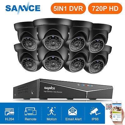 SANNCE 8CH 1080P HDMI DVR 1500TVL HD IR CCTV Video Home Secu