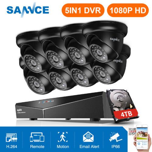 SANNCE 1080P HDMI 8CH CCTV DVR 2MP 3000TVL Security Camera S
