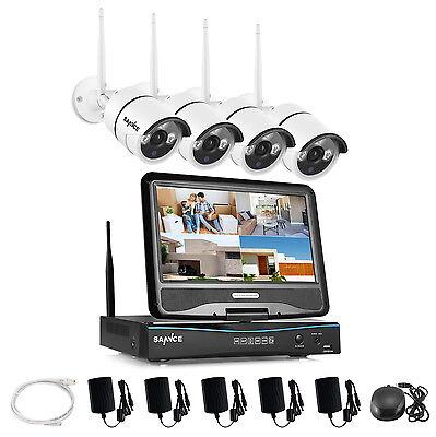 4CH 720P Funk Überwachungskamera Videoüberwachung set mit Monitor Fernzugriff