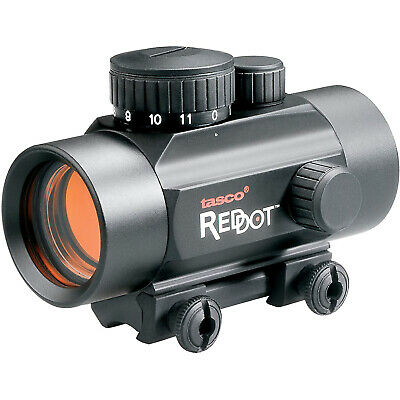 Tasco .22 Rimfire 1x30mm 5 MOAS Red Dot Rifle Scope with CR2032 Battery, Black