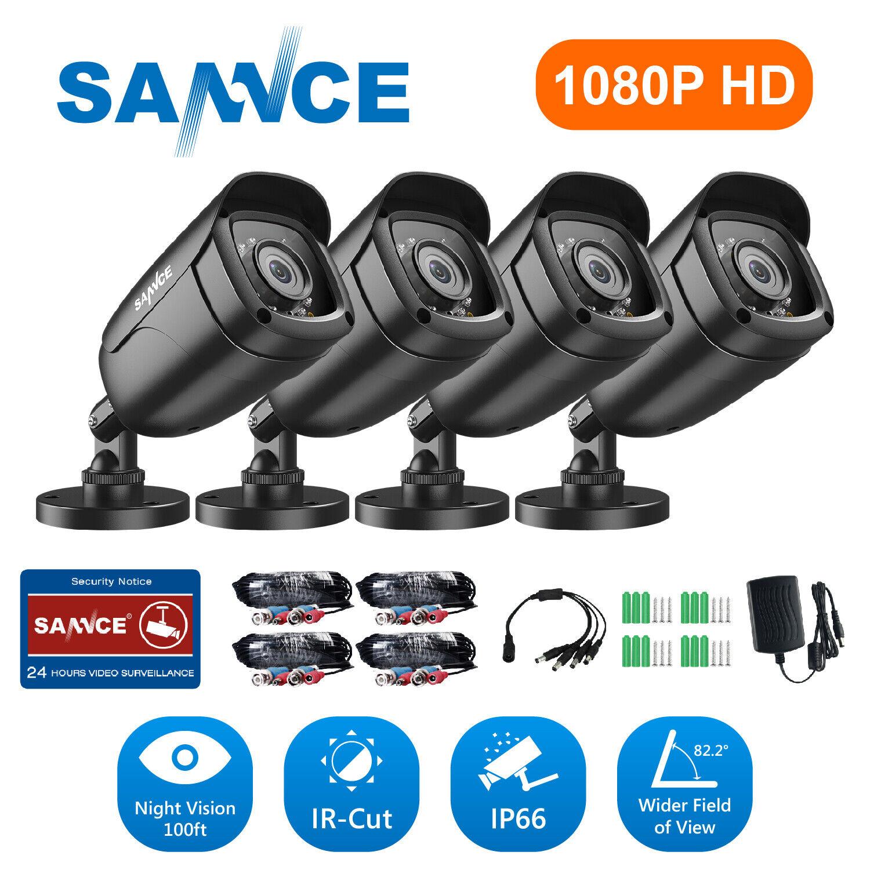 SANNCE HD 1080P TVI 3000TVL CCTV IR Night Vision for Home Se