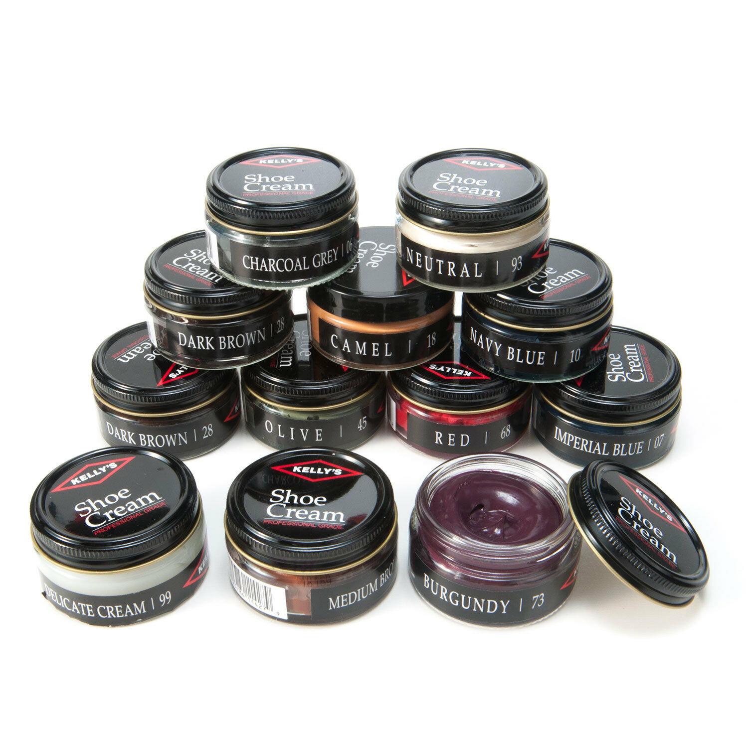 Kelly's Shoe & Boot Leather Cream Polish By Fiebing's ALL COLORS Clothing & Shoe Care