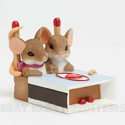 NEW We're A Hot Match CHARMING TAILS Mouse Figurine Valentines Day Sweetest Gift
