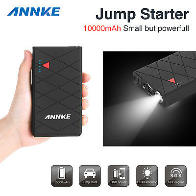 ANNKE 12V 10000mAh Portable Car Jump Starter Booster Battery Charger Power Bank