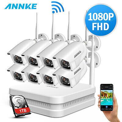 ANNKE 1080P WLAN ÜberwachungsKamera 8CH NVR WIFI 2MP IP Kameras