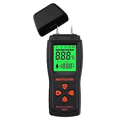 Meterk Handheld Mini Wood Moisture Meter Digital Lcd Lumber Damp Meter Detector