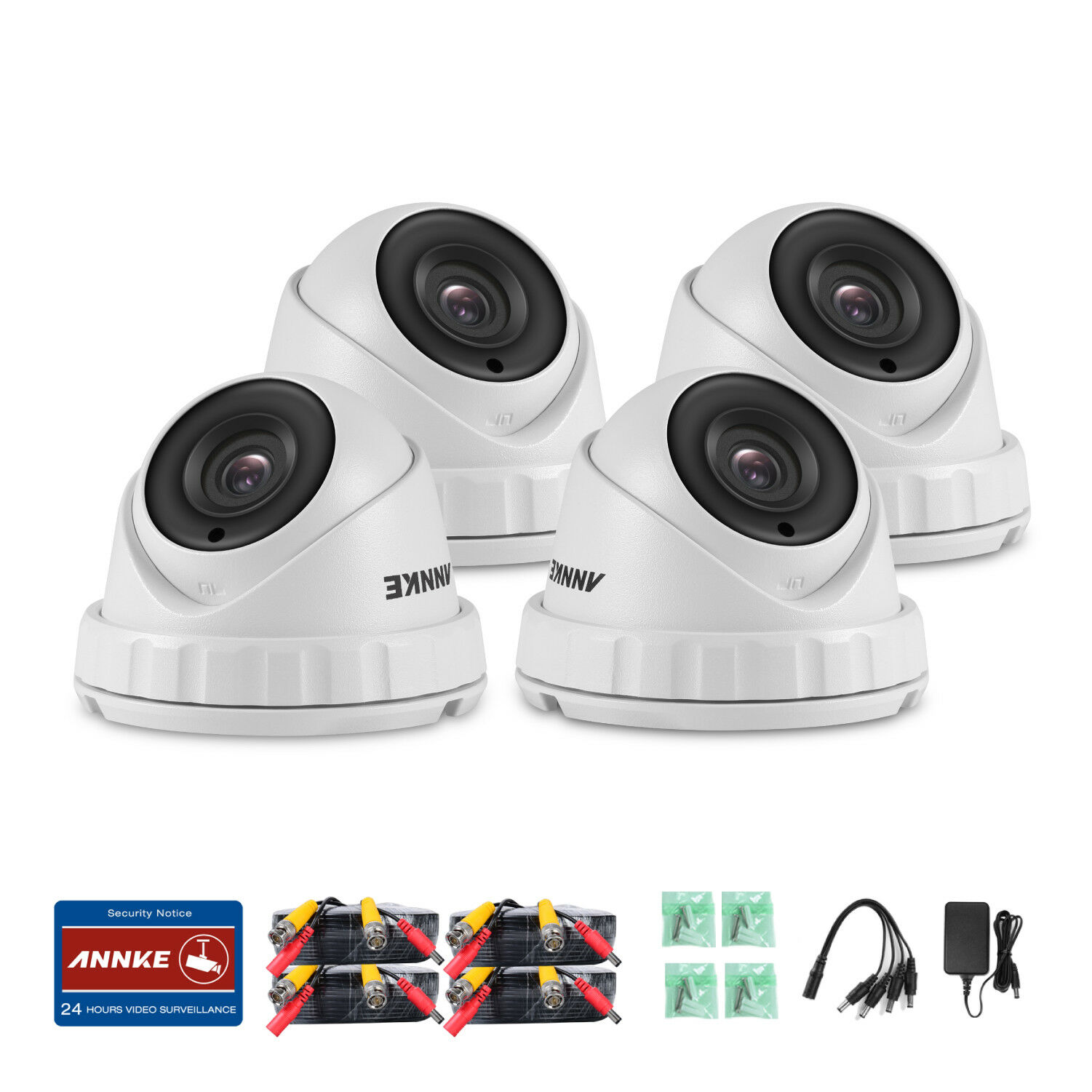 ANNKE Real 3MP Video Security Camera System 8CH H.264+ DVR Cloud Storage 1-4TB