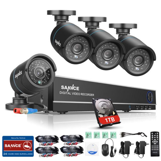 SANNCE 8CH 1080N HDMI DVR Outdoor 1500TVL Video CCTV Security Camera System 1TB