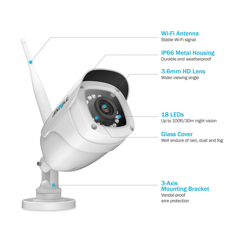 Камера видеонаблюдения ANNKE 8CH 1080P WLAN Video ÜberwachungsKamera