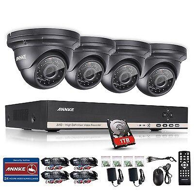 ANNKE 8CH 1080N HD Video DVR 1500TVL IR Night Vision Security Camera System 1TB