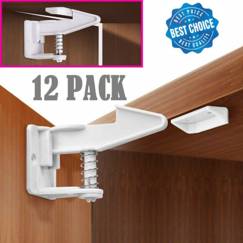 Details about 10X Home Cabinet Safety Lock Cupboard Locks For Drawers  Kitchen Cabinet Helpful