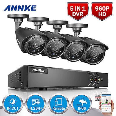 ANNKE 1080P Lite 8CH 5in1 DVR 960P IR Home Surveillance Security Camera System