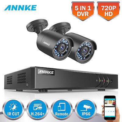 ANNKE 4CH HDMI DVR Outdoor 1500TVL IR CCTV Surveillance Security Cameras System