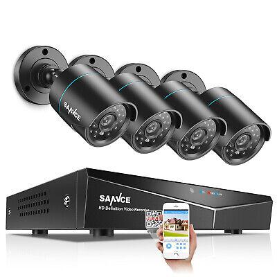 SANNCE 4CH 1080N CCTV DVR 1500TVL HD IR Outdoor Home Securit