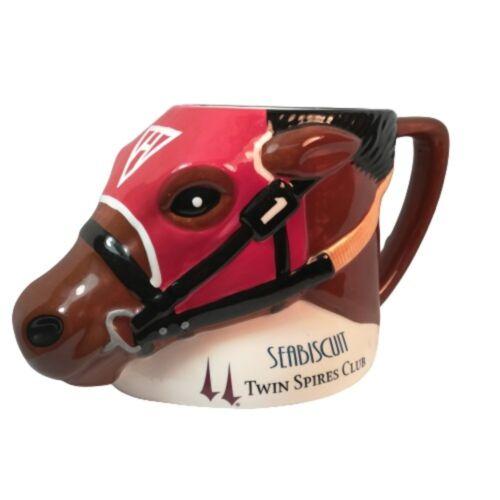 "Twin Spires Club  ""SEABISCUIT""  Ceramic Coffee Mug, Planter or Pen-Pencil Holder"