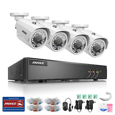 ANNKE 8CH 1080N Video überwachungsset kamera IR H,264+ CCTV DVR System DE weiß