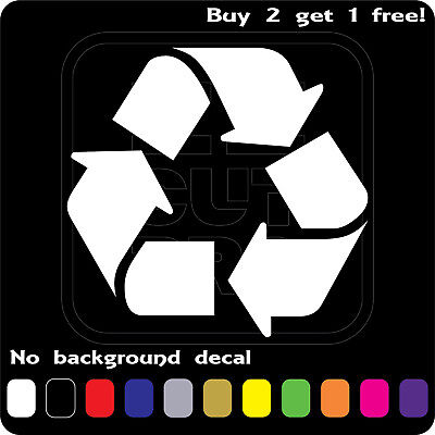 RECYCLE SIGN LOGO STICKER VINYL DECAL REUSE RENEW SYMBOL BIN TRASH CAR WINDOW