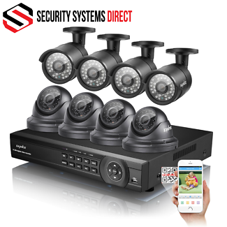 16CH 1080P DIY SECURITY SYSTEM DVR WITH 8 X 2MP CAMERAS
