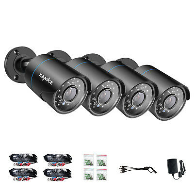 SANNCE 4x 1500TVL 720P CCTV Camera In/ Outdoor IR Security Surveillance System