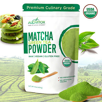 USDA Certified Structured Matcha Green Tea Powder Culinary Grade, 16 oz Bag