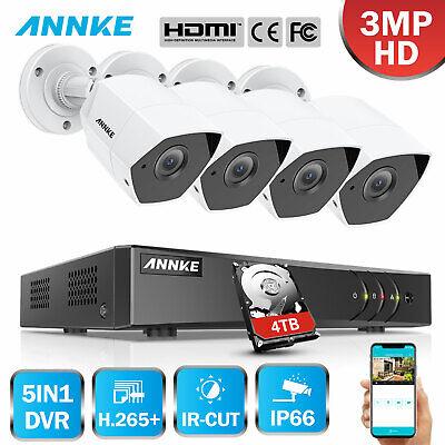 ANNKE 3MP Überwachungskamera DVR HDMI IR Außen Kamera Überwachungssysteme Motion Kameras Dvr Cd