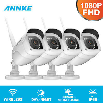 ANNKE Wireless 4x HD 1080P 2MP Security IP Camera IR Night Vision In/Outdoor