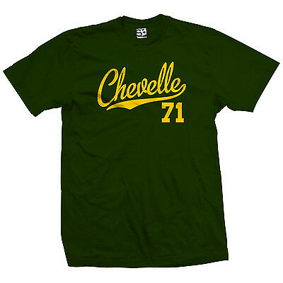Chevelle 71 Script Tail Shirt - 1971 Classic Muscle Race Car - All Size & - Classic Muscle Car