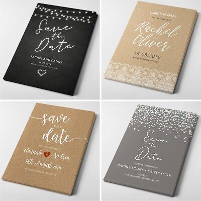 Personalised Wedding Save the Date Cards with Envelopes #066 (Wedding Save The Dates)