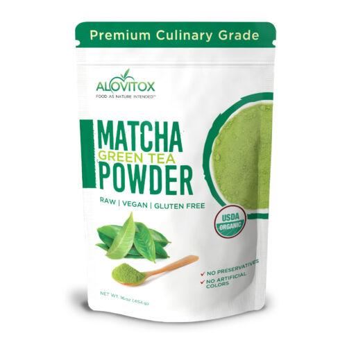 Matcha Green Tea Powder 16oz | Culinary Grade Chinese Powder | Boosts Metabolism