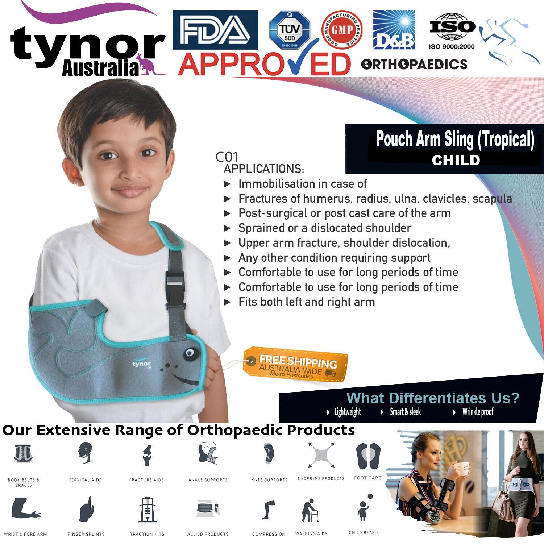 Tynor™ Child Arm Sling Shoulder Wrap Support Brace Injury