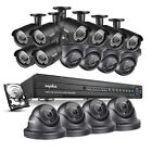 SANNCE IP & Smart Security Camera Systems with 16 Cameras and 16 Channels