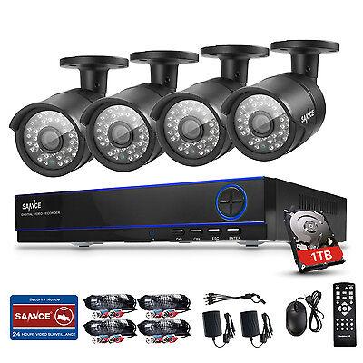 4CH 1080P AHD 2.0 MP Kamera CCTV DVR SET Sicherheit  Videoüberwachung KIT system
